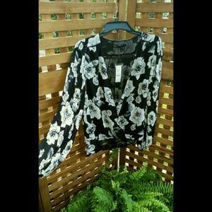 WHBM floral blouse